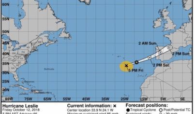 Posibilidad de lluvias débiles en las islas occidentales de Canarias