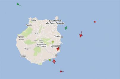 Un mapa interactivo informa sobre trayectorias y niveles de ruido en el Aeropuerto de Gran Canaria