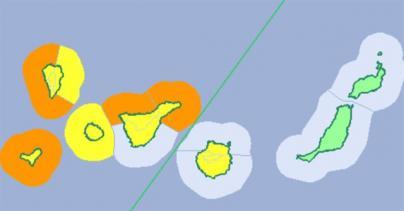 Las islas occidentales y Gran Canaria, en aviso naranja y amarillo por fenómenos costeros, lluvia y viento