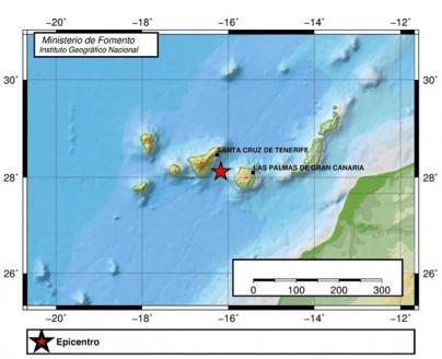 Se registra un terremoto de magnitud 4,2 entre Gran Canaria y Tenerife
