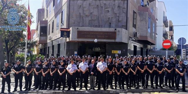 La Policía Nacional se refuerza en la provincia tinerfeña con la incorporación de 95 agentes en prácticas