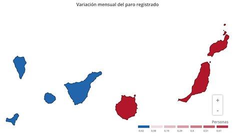 El paro sube en Canarias en 762 personas en noviembre y se sitúa en 210.893 desempleados