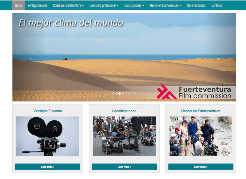 El plató natural de Fuerteventura se promociona en el exterior con una web