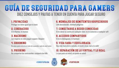 Policía Nacional y MAD Lions E.C. crean la primera guía de seguridad para gamers
