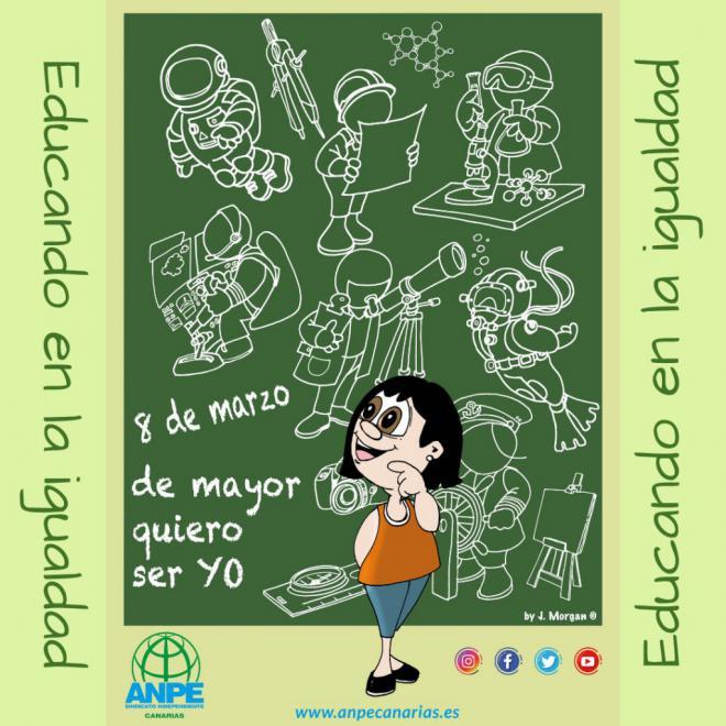 ANPE Canarias resalta la educación como conducto para la igualdad