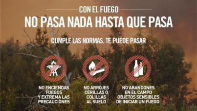 Alerta por Riesgo de Incendios Forestales en El Hierro, La Palma, La Gomera, Tenerife y Gran Canaria