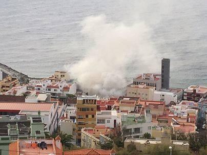 Controlado el incendio en La Bodeguita del Medio en La Palma