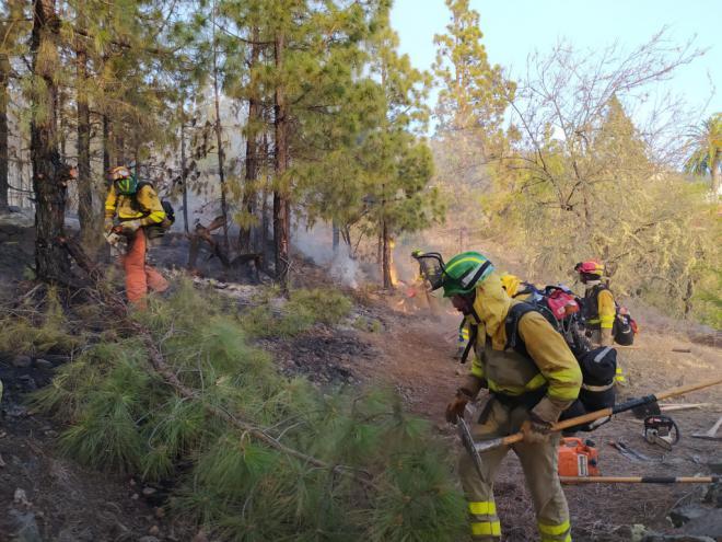 Controlado el incendio forestal de Tijarafe