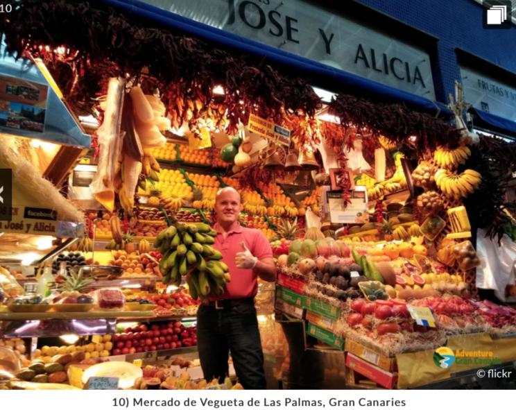 El buscador de viajes francés Easyvoyage coloca al Mercado de Vegueta entre los diez mercado más bellos de toda Europa