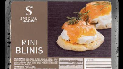 Aldi detecta listeria en un lote de minitortitas para canapés de la marca 'Mini blinis'