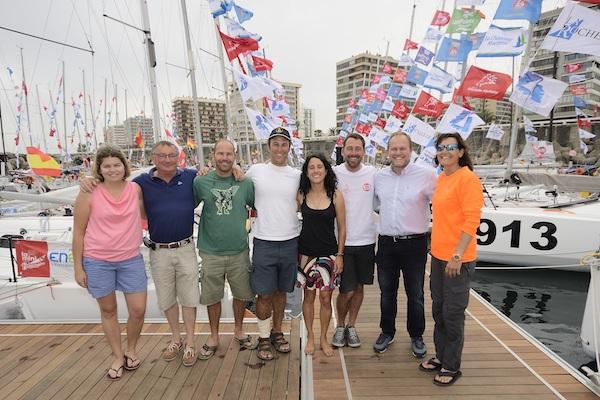 Bienvenida a los navegantes españoles en la Mini Transat
