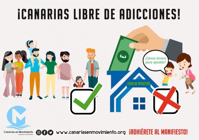 Canarias en Movimiento llama a poner freno a los locales de casas de apuestas online