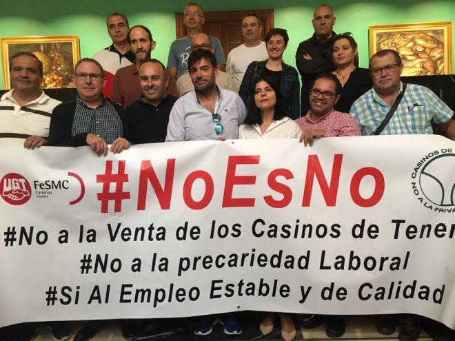 Podemos y UGT contra la venta de los casinos públicos de Tenerife
