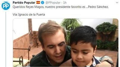 El PP la lía en Twitter con un vídeo sobre el polémico deseo a los Reyes Magos