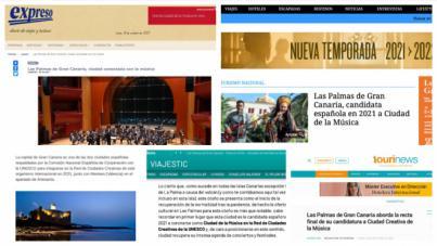 Los portales de Turismo españoles difunden la candidatura de Las Palmas de Gran Canaria a Ciudad de la Música