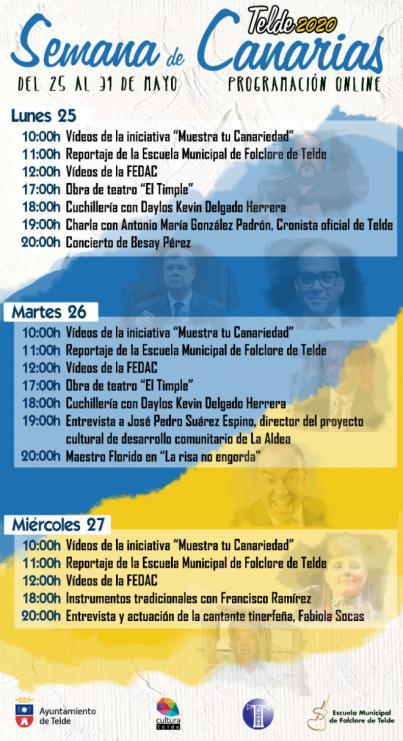 Telde programa más de 40 eventos telemáticos para celebrar el Día de Canarias
