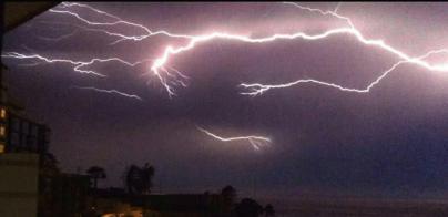 Canarias registran casi 1.600 rayos durante la noche