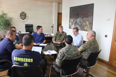 El Cabildo y el Club Deportivo Soria 9 coordinan los preparativos de la prueba cívico-militar Fudenas 2018
