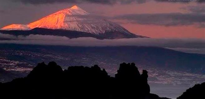 El Teide el más lluvioso, más frío y más ventoso de España