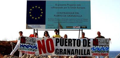 Ecologistas exigen paralizar el puerto de Granadilla y las regasificadoras