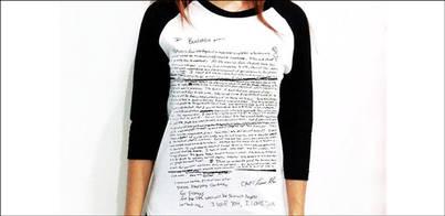 La nota de suicidio de Kurt Cobain, convertida en camiseta