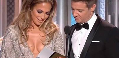 El escote imposible de Jennifer López en los Globos de Oro
