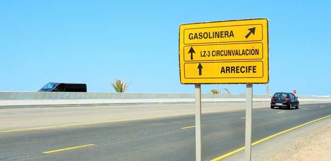 Cerrada la carretera LZ-3 por obras de duplicación de la Circunvalación
