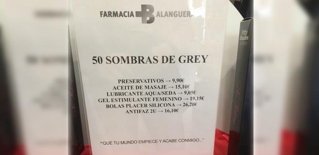 """Una farmacia vende un kit de """"50 sombras de Grey"""""""