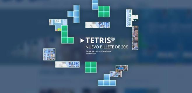 Descubre el nuevo billete de 20 € jugando al Tetris