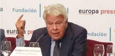 Felipe González avisa del 'error' de excluir a los imputados