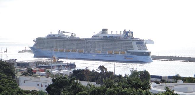 Las Palmas recibe 273.000 cruceristas el primer trimestre