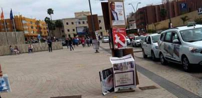 CC denuncia ataques vandálicos a su cartelería en Las Palmas