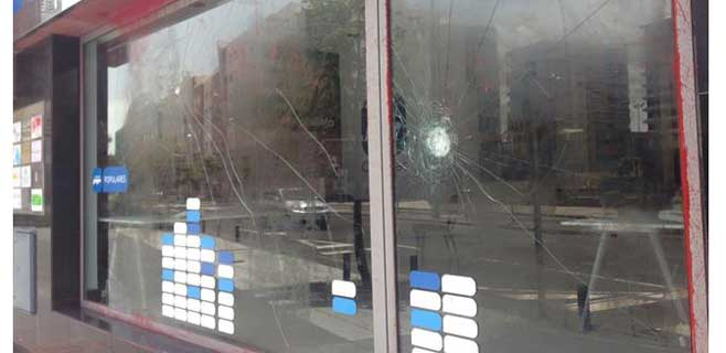 La sede del PP en Las Palmas atacada con pintadas y pedradas