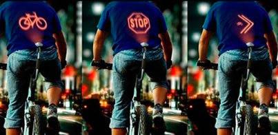 Un dispositivo proyecta las maniobras de los ciclistas