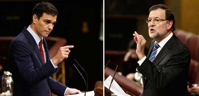 Rajoy acusa a Sánchez de saltarse la voluntad democrática