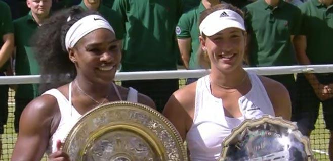 Garbiñe Muguruza no puede con Serena Williams