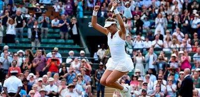 Garbiñe Muguruza, a la final de Wimbledon