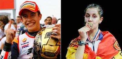 Marc Márquez y Carolina Marín, los mejores españoles