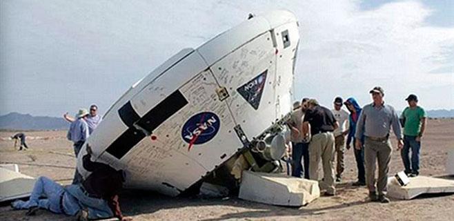 La cápsula Orion de la NASA aterriza al revés