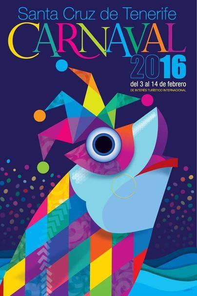 Un 'chicharro' disfrazado de arlequín cartel del carnaval