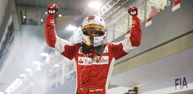 Gana Vettel y abandonan Hamilton y Alonso
