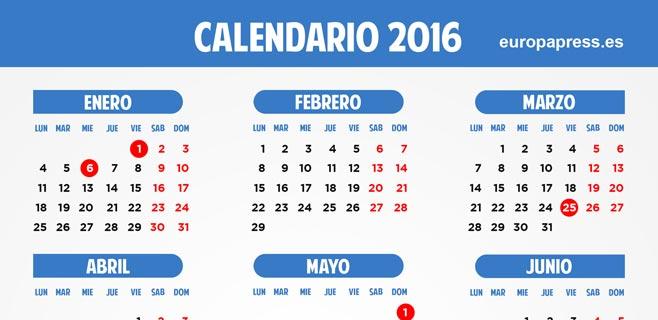 Calendario Laboral 2020 Santa Cruz De Tenerife.Calendario Laboral 2016 Vacaciones De Navidad Semana Santa