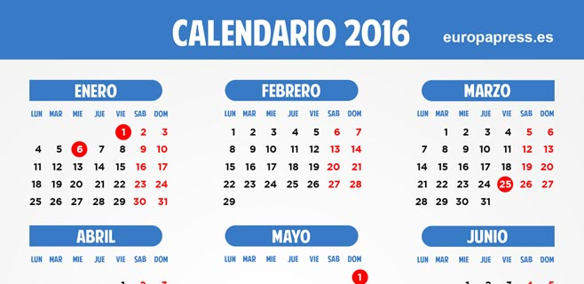 Vacaciones De Semana Santa 2016   Calendar Template 2016