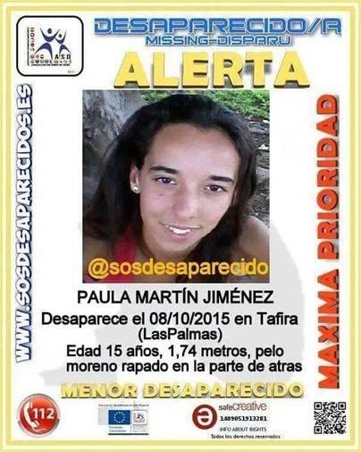 Desaparece una menor de 15 años en Las Palmas