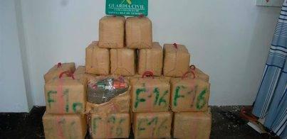 Detenidos dos hombres al introducir en Adeje 780 kilos de hachís