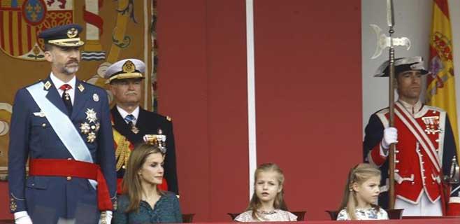 Felipe VI presidirá este lunes el desfile de la Fiesta Nacional