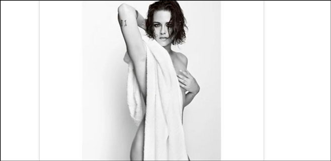 Kristen Stewart se desnuda para Mario Testino