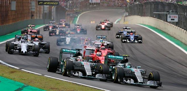 Rosberg gana en Brasil