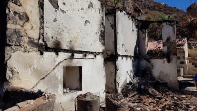 El Cabildo destinará 1,8 millones a rehabilitar las viviendas afectadas por los incendios de Gran Canaria