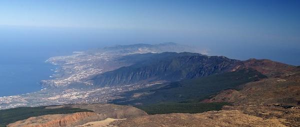 La emisión de CO2 por el volcán Dorsal Noreste de Tenerife es de 1.300 toneladas diarias